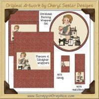 Doll Sweetie Wrapper Set Printable Craft Collection Graphics Cli