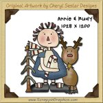 Annie & Rudy Reindeer Single Graphics Clip Art Download