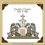 Country Church Single Clip Art Graphic Download