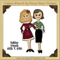 Holiday Friends Single Graphics Clip Art Download