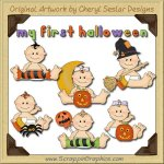 Sweet Baby First Halloween Limited Pro Clip Art Graphics