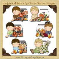 Oscar's Halloween Jars Clip Art Download