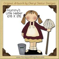 Mommy's Little Helper Single Clip Art Graphic Download