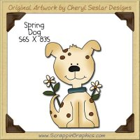Spring Dog Single Clip Art Graphic Download