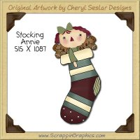 Stocking Annie Single Clip Art Graphic Download
