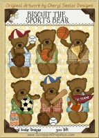 Biscuit The Sports Bear Limited Pro Clip Art Graphics