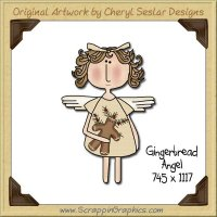 Gingerbread Angel Single Graphics Clip Art Download
