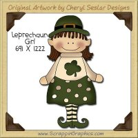 Leprechaun Girl Single Clip Art Graphic Download