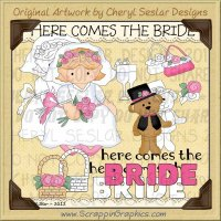 Here Comes The Bride Limited Pro Clip & Line Art Graphics