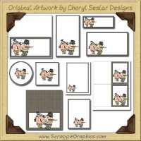Sid & Sadie Printable Pack Graphics Clip Art Download