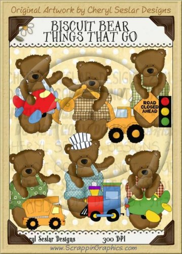 Biscuit Bear Things That Go Limited Pro Clip Art Graphics