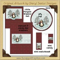Little Penguin Wrapper Set Printable Craft Collection Graphics C