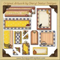 Fall Harvest Journaling Delights Digital Scrapbooking Graphics Clip Art Download