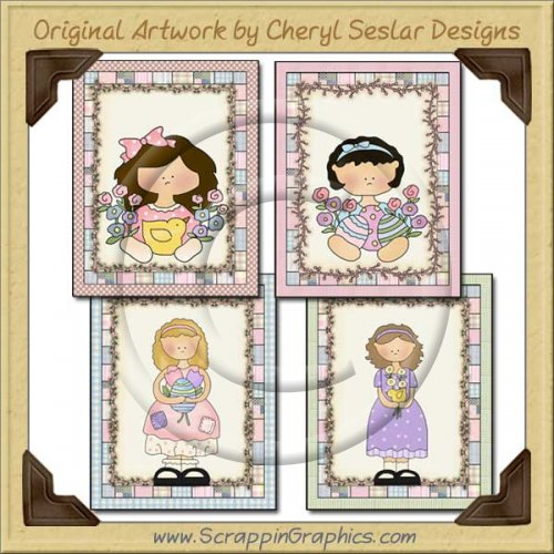Easter Sweetie Sampler Card Collection Printable Craft Download