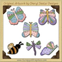 Flutterbies Graphics Clip Art Download