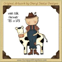 Wee Folk Farmer Single Graphics Clip Art Download