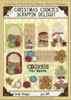 Christmas Cookies Scrappin' Delights Clip Art Graphics