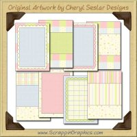 Baby Parfait Card Starters Collection Printable Craft Download