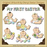 Sweet Baby My First Easter Limited Pro Clip Art Graphics