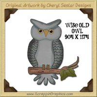 Wise Old Owl Single Graphics Clip Art Download