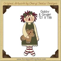 Gabby & Ginger Single Clip Art Graphic Download
