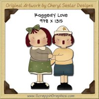 Raggedy Love Single Graphics Clip Art Download