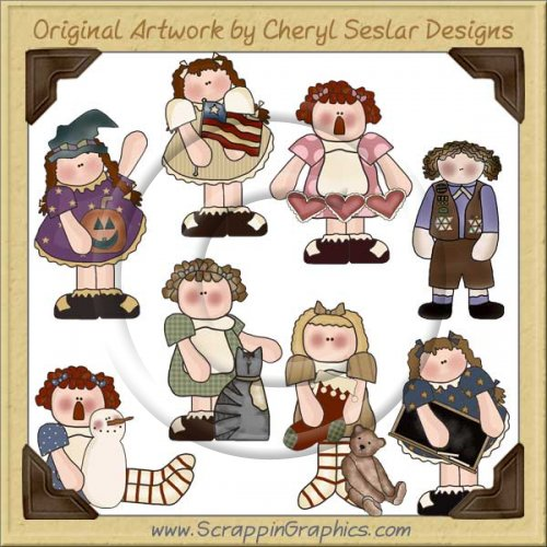 Sweetie Pie Girls Clip Art Download
