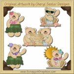 Aloha Bears Graphics Clip Art Download