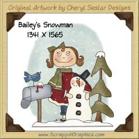 Bailey's Snowman Single Graphics Clip Art Download