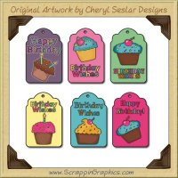 Happy Birthday Tags Collection Printable Craft Download