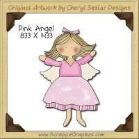 Pink Angel Single Clip Art Graphic Download