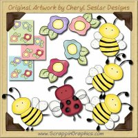 Bugs & Blossoms Collection Graphics Clip Art Download