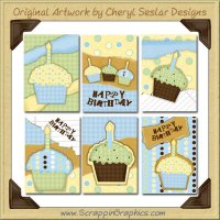 Hot Fudge Cupcake Cards Collection Printable Craft Download