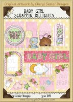 Baby Girl Scrappin' Delights Clip Art Graphics