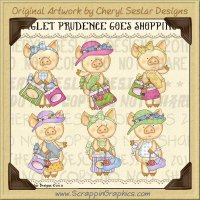 Piglet Prudence Goes Shopping Limited Pro Clip Art Graphics