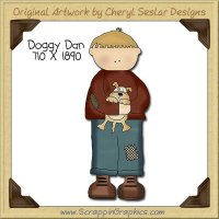 Doggy Dan Single Clip Art Graphic Download