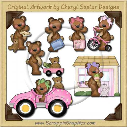 Raggedy Bears At Play Graphics Clip Art Download