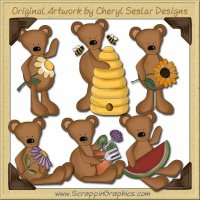 Prim Country Bears Limited Pro Graphics Clip Art Download
