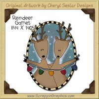 Reindeer Games Single Clip Art Graphic Download