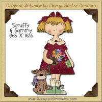 Scruffy & Sammy Single Clip Art Graphic Download