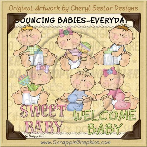 Bouncing Babies Everyday Limited Pro Clip Art Graphics