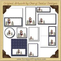 Snow Better Friend Printable Pack Graphics Clip Art Download