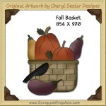 Fall Basket Single Graphics Clip Art Download