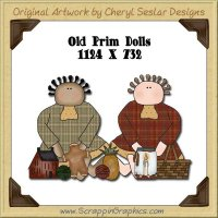 Old Prim Dolls Single Graphics Clip Art Download