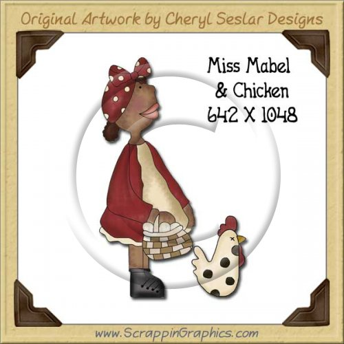 Miss Mabel & Chicken Single Graphics Clip Art Download