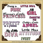 Girly Girl Titles Graphics Clip Art Download