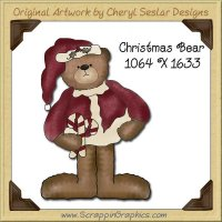 Christmas Bear Single Graphics Clip Art Download