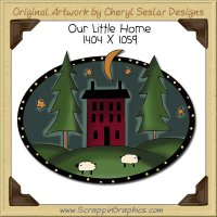 Our Little Home Single Clip Art Graphic Download