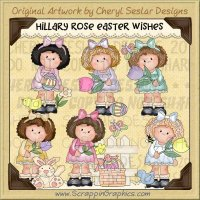 Hillary Rose Easter Wishes Limited Pro Clip Art Graphics