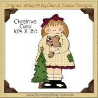 Christmas Carol Single Clip Art Graphic Download